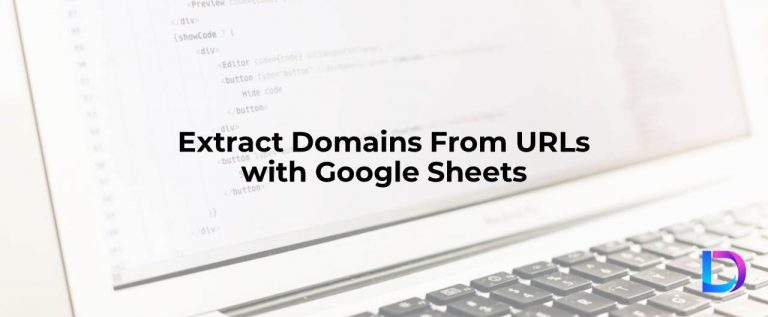 extract domain from url google sheets
