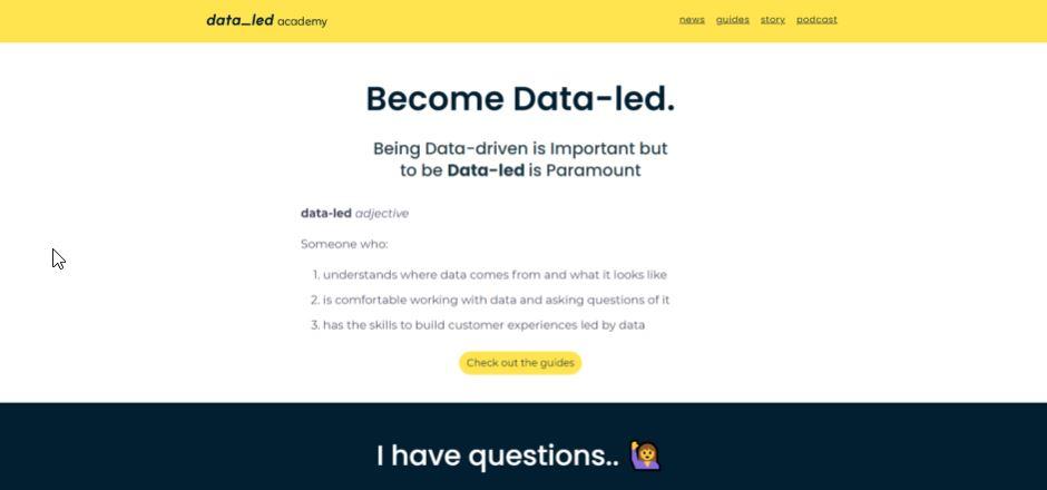 technical marketing dataled