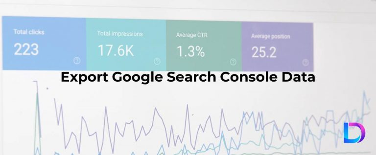 google search console export data