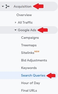 ga site search5 gads query