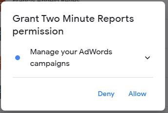 google ads to sheets4