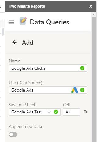 google ads to sheets7