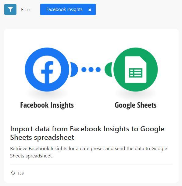 fb ads sheets integromat 1