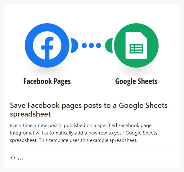 fb page sheets integromat 01