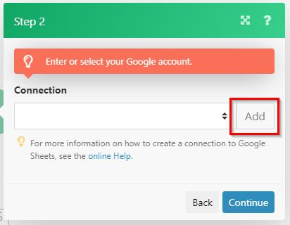 gmail to sheets integromat 12b