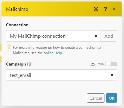 mailchimp sheets integromat 04